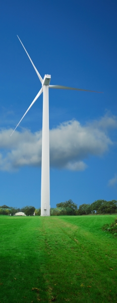 wind turbine with clipping path