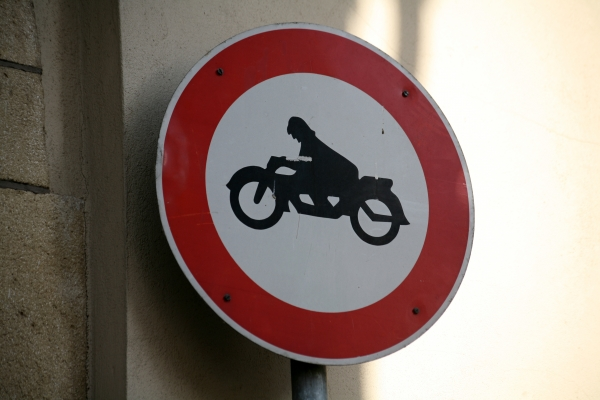 banned motorcycles