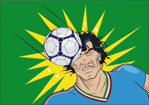 ital fussballspieler by the head