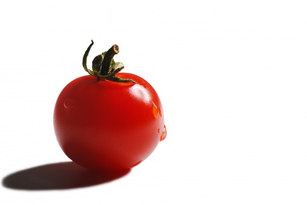 cherry tomato on white background