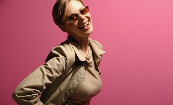 attractive female wearing sunglasses