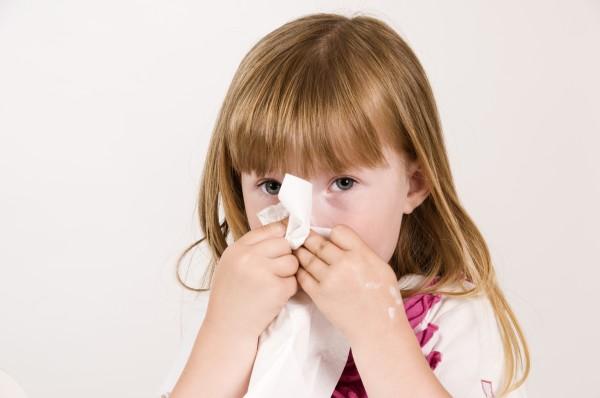 blow a little girls nose