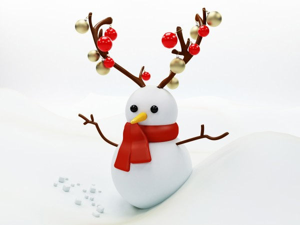 snowman with horns
