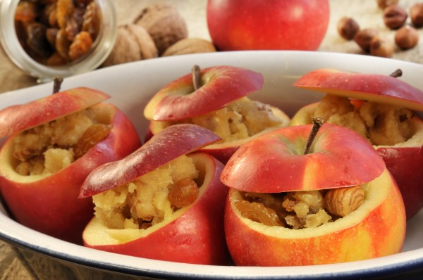 baked apples in baking dish