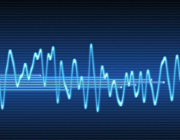 electronic sine sound wave