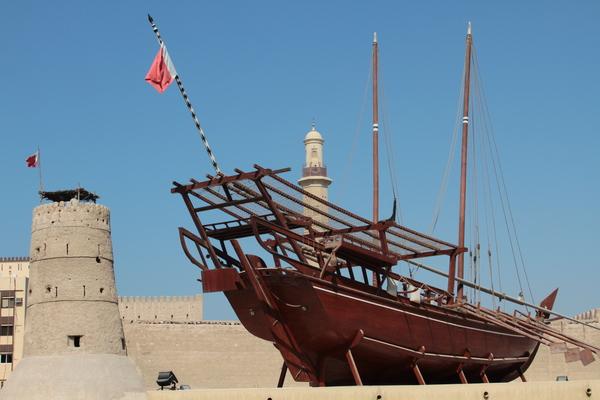 antique boat in dubai