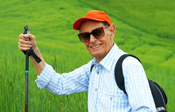 retirees while hiking