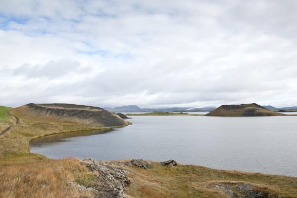 volcanic landscape in iceland interior