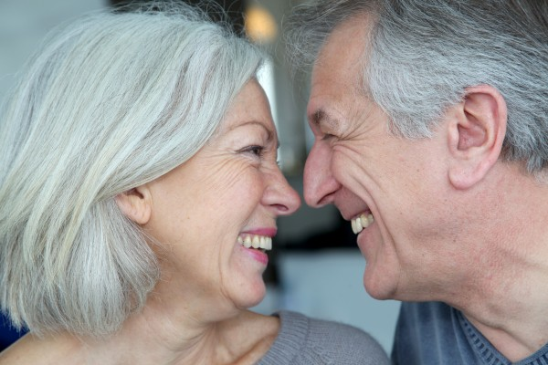 portrait of happy in loved senior