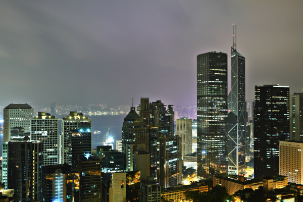 hong kong at mid night