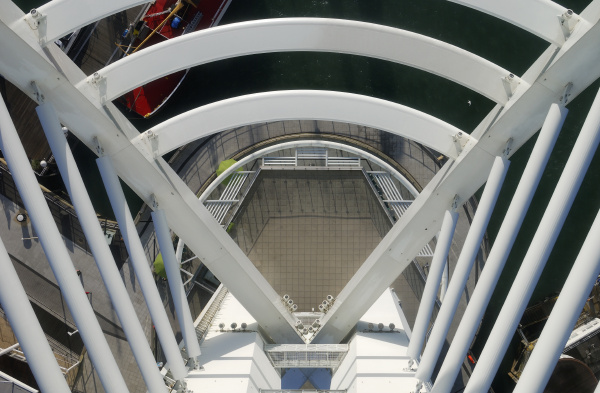 view down from spinnaker tower
