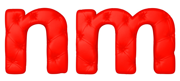 luxury red leather font m n