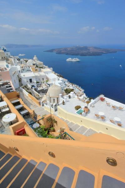 fira and santorini islands greece