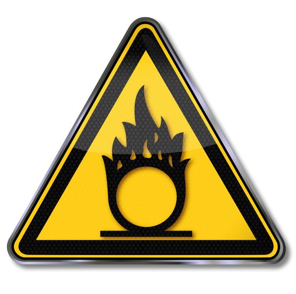 shield warning of oxidizing substances