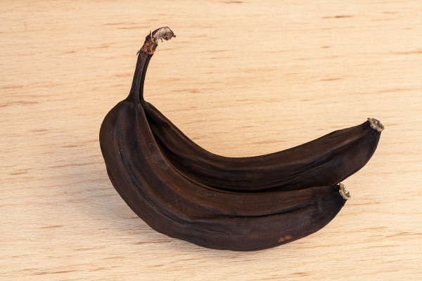 organic banana in the final stage