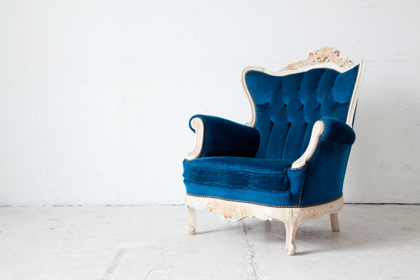 blue retro armchair