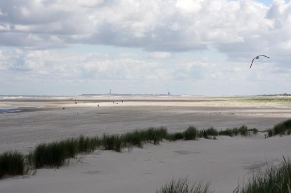 view from spiekeroog to wangerooge