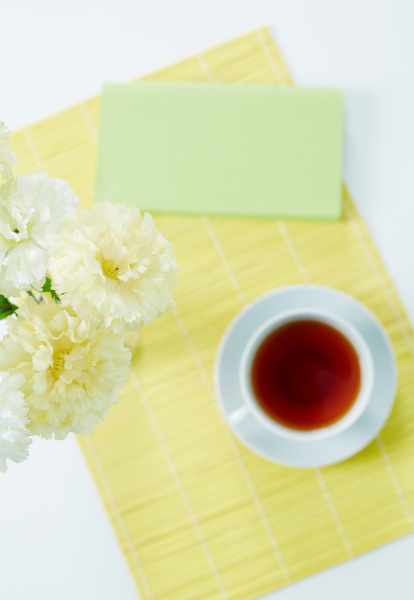 carnations and tea