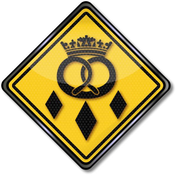 guild sign baker crown and pretzel