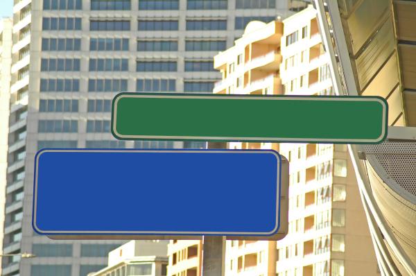 empty city signs