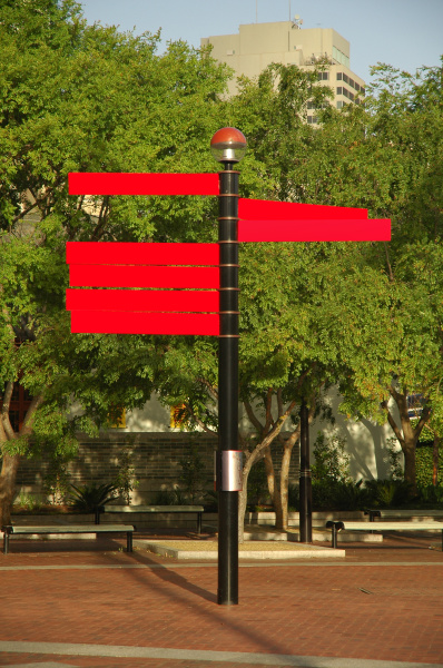 red empty signs