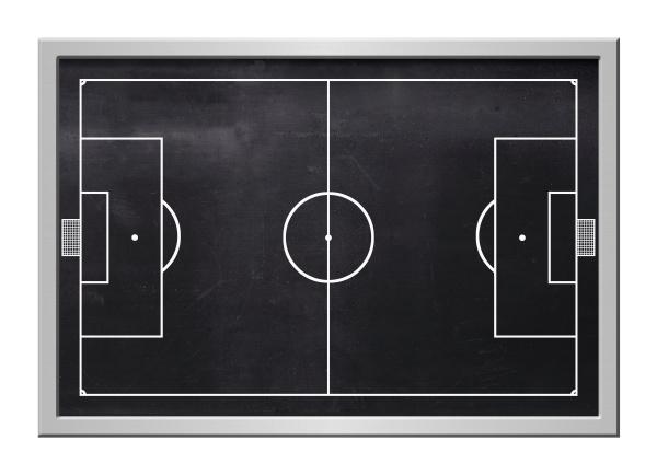 blackboard with soccer field