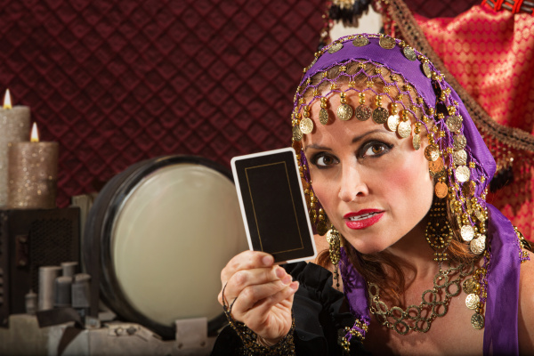 serious fortune teller