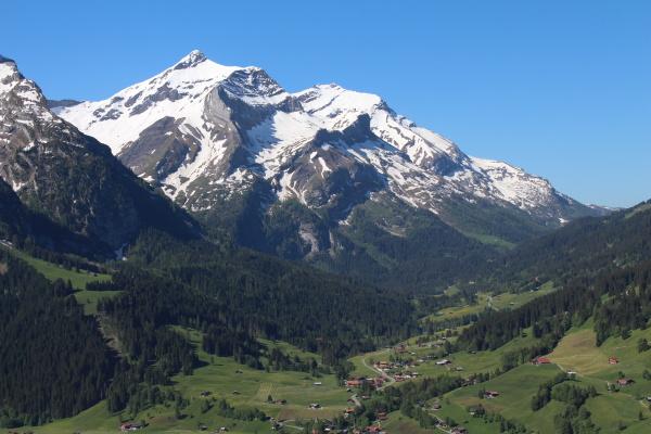 beautiful snow capped oldenhorn high