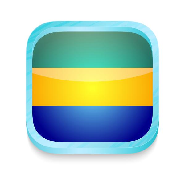 smart phone button with gabon flag