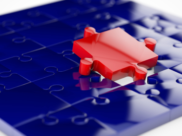 red puzzle tile
