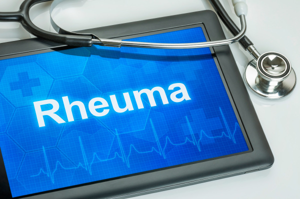 tablet with the diagnosis rheumatism on