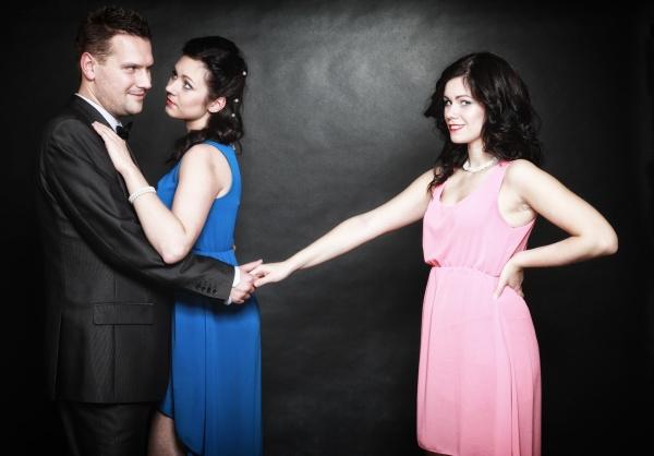 marital infidelity concept love triangle