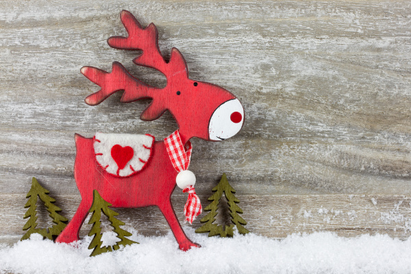 christmas decoration with reindeer
