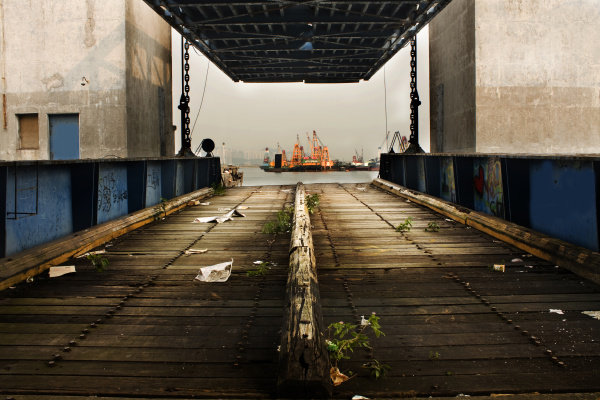 old desert car ferry dock
