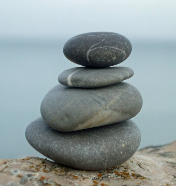 relax, relaxation, wellness, stones, sea, sky - 12851508