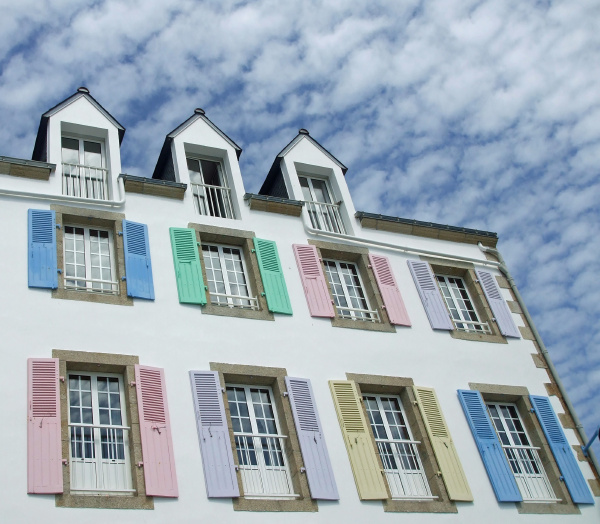 windows, building, shutters, colorful, color, architectural style - 12851522