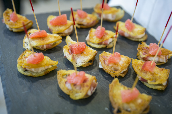 catering buffet and finger food scallops