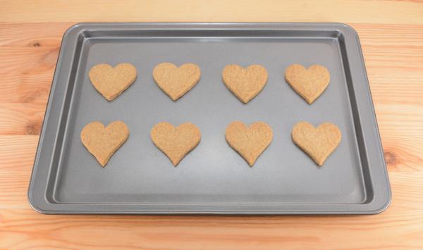 eight plain heart shaped cookies