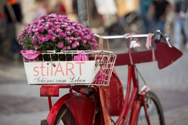 bicycle with flower decoration