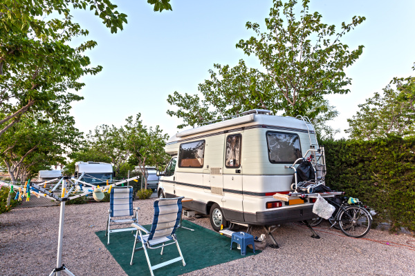 motor home on a camping site