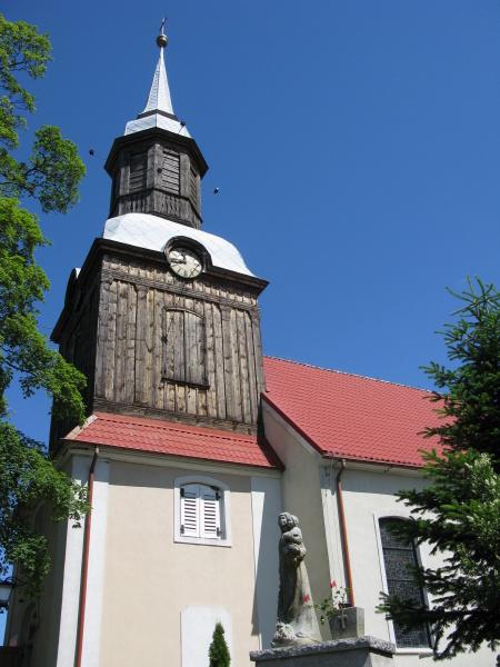historic village church in western pomerania