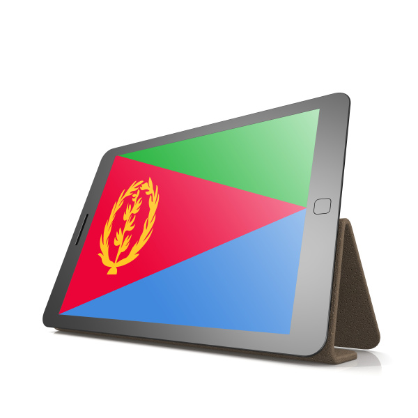 tablet with eritrea flag