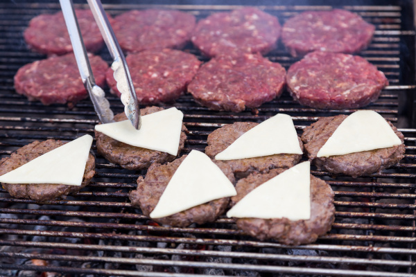hot grill burger cutlet barbeque on