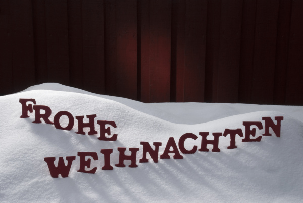 frohe weihnachten means merry christmas on