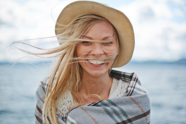 joyful female