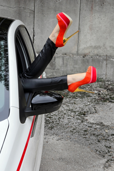 a woman stretches her legs out
