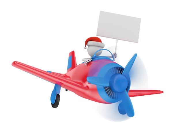man on a plane
