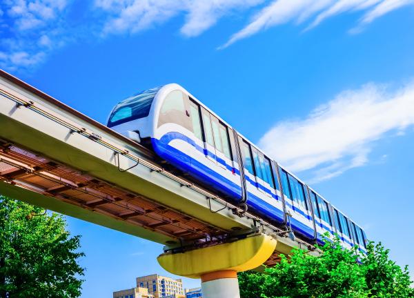 electric monorail train modern public transport