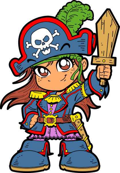 cute girl pirate