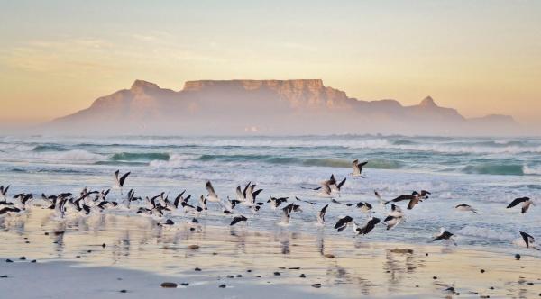 romantic sunrise over the sea